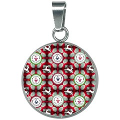 Christmas Happy Holidayw 20mm Round Necklace