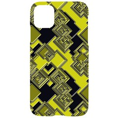 Seamless Pattern Background  Gold Yellow Black Iphone 11 Black Uv Print Case
