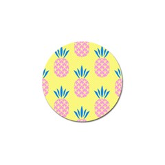 Summer Pineapple Seamless Pattern Golf Ball Marker (4 Pack) by Sobalvarro