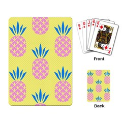 Summer Pineapple Seamless Pattern Playing Cards Single Design (rectangle) by Sobalvarro