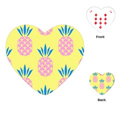 Summer Pineapple Seamless Pattern Playing Cards Single Design (heart) by Sobalvarro