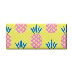 Summer Pineapple Seamless Pattern Hand Towel by Sobalvarro