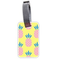 Summer Pineapple Seamless Pattern Luggage Tag (one Side) by Sobalvarro