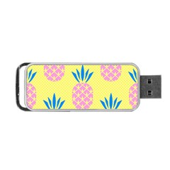 Summer Pineapple Seamless Pattern Portable Usb Flash (two Sides) by Sobalvarro