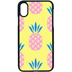 Summer Pineapple Seamless Pattern Iphone Xs Seamless Case (black) by Sobalvarro