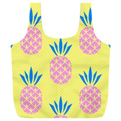 Summer Pineapple Seamless Pattern Full Print Recycle Bag (xxxl) by Sobalvarro