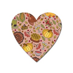 Thanksgiving Pattern Heart Magnet by Sobalvarro