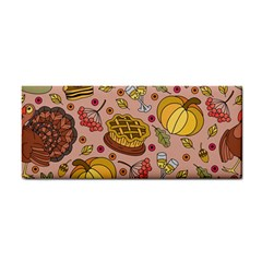 Thanksgiving Pattern Hand Towel by Sobalvarro