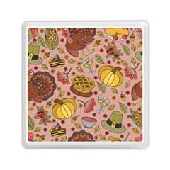 Thanksgiving Pattern Memory Card Reader (square) by Sobalvarro