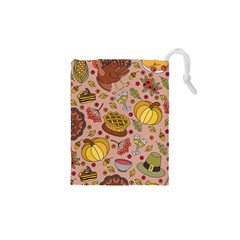 Thanksgiving Pattern Drawstring Pouch (xs) by Sobalvarro