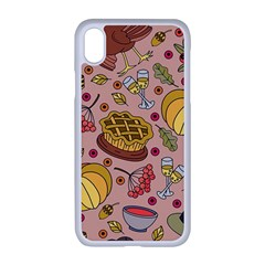 Thanksgiving Pattern Iphone Xr Seamless Case (white) by Sobalvarro