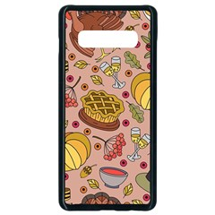 Thanksgiving Pattern Samsung Galaxy S10 Plus Seamless Case (black) by Sobalvarro