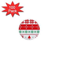Ugly Christmas Sweater Pattern 1  Mini Buttons (100 Pack)  by Sobalvarro