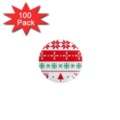 Ugly Christmas Sweater Pattern 1  Mini Magnets (100 Pack)  by Sobalvarro