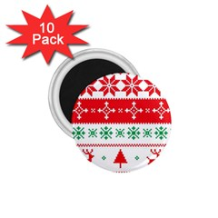 Ugly Christmas Sweater Pattern 1 75  Magnets (10 Pack)  by Sobalvarro