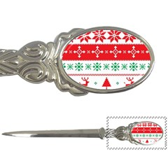Ugly Christmas Sweater Pattern Letter Opener by Sobalvarro