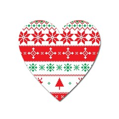 Ugly Christmas Sweater Pattern Heart Magnet by Sobalvarro