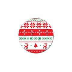 Ugly Christmas Sweater Pattern Golf Ball Marker (10 Pack) by Sobalvarro