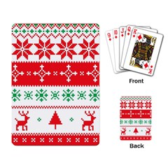 Ugly Christmas Sweater Pattern Playing Cards Single Design (rectangle)