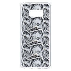 Pattern Texture Dollar Samsung Galaxy S8 Plus White Seamless Case by AnjaniArt