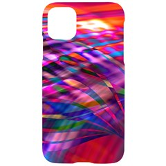 Wave Lines Pattern Abstract Iphone 11 Black Uv Print Case by Alisyart