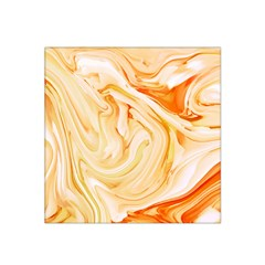 Orange Liquid Marble Satin Bandana Scarf
