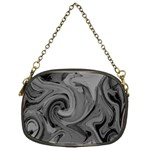 Black liquid marble Chain Purse (One Side) Front