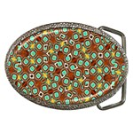 Colorful Modern Geometric Print Pattern Belt Buckles Front