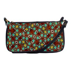 Colorful Modern Geometric Print Pattern Shoulder Clutch Bag by dflcprintsclothing