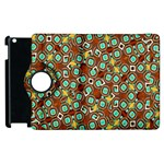 Colorful Modern Geometric Print Pattern Apple iPad 2 Flip 360 Case Front