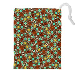 Colorful Modern Geometric Print Pattern Drawstring Pouch (3xl) by dflcprintsclothing