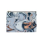 Metallic marble Cosmetic Bag (Medium) Front