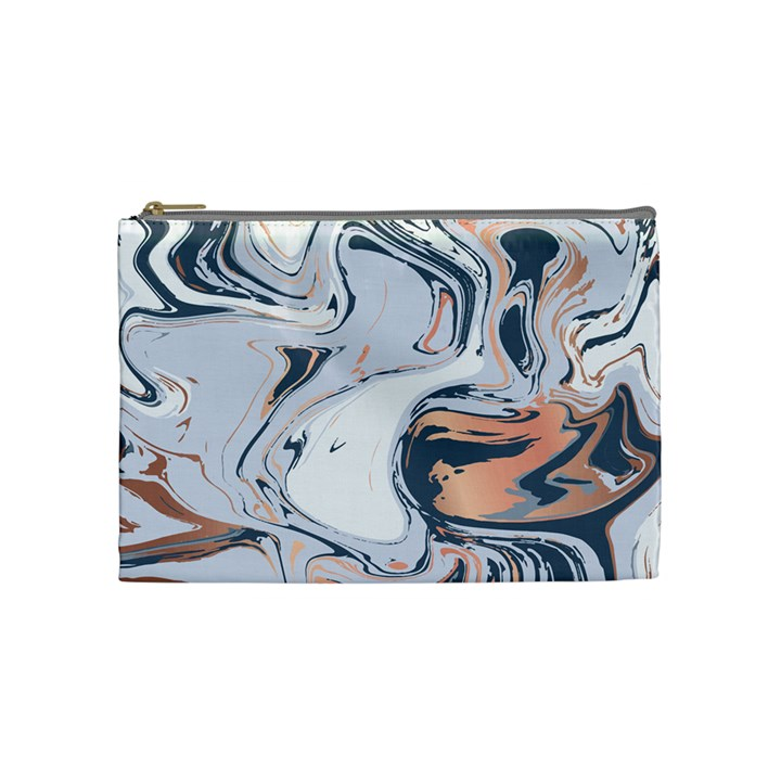 Metallic marble Cosmetic Bag (Medium)