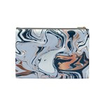 Metallic marble Cosmetic Bag (Medium) Back