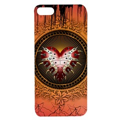 Awesome Dark Heart With Skulls Apple Iphone 7/8 Tpu Uv Case