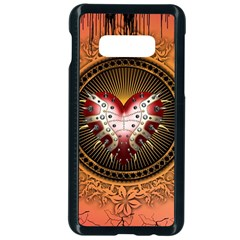 Awesome Dark Heart With Skulls Samsung Galaxy S10e Seamless Case (black) by FantasyWorld7