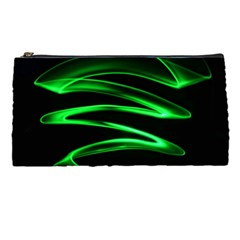 Green Light Painting Zig Zag Pencil Cases