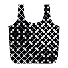 Abstract Background Arrow Full Print Recycle Bag (l)