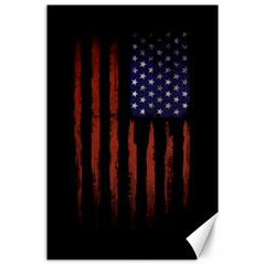 Grunge American Flag Canvas 24  X 36  by goljakoff