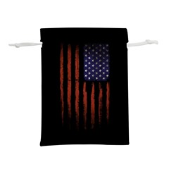 Grunge American Flag Lightweight Drawstring Pouch (s)
