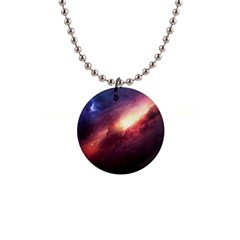 Galaxy 1  Button Necklace by goljakoff