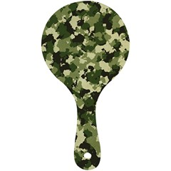 Dark Green Camouflage Army Mini Wooden Mirror