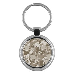 Tan Army Camouflage Key Chain (round) by mccallacoulture