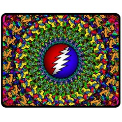 Grateful Dead Fleece Blanket (medium)  by Sapixe