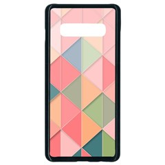 Background Geometric Triangle Samsung Galaxy S10 Plus Seamless Case (black) by Sapixe