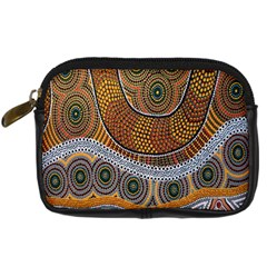 Aboriginal Traditional Pattern Digital Camera Leather Case by Sapixe
