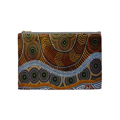 Aboriginal Traditional Pattern Cosmetic Bag (medium) by Sapixe