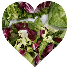 Salad Lettuce Vegetable Wooden Puzzle Heart