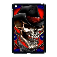 Confederate Flag Usa America United States Csa Civil War Rebel Dixie Military Poster Skull Apple Ipad Mini Case (black)