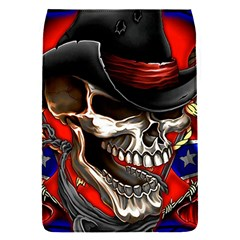 Confederate Flag Usa America United States Csa Civil War Rebel Dixie Military Poster Skull Removable Flap Cover (s)